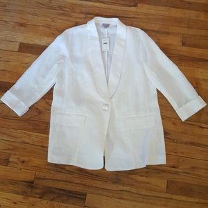 White Linen blazer size large